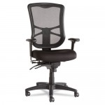 Elusion Series Mesh High-Back Multifunction Chair, Black, New