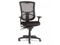 Elusion Series Mesh High-Back Multifunction Chair, Black, New