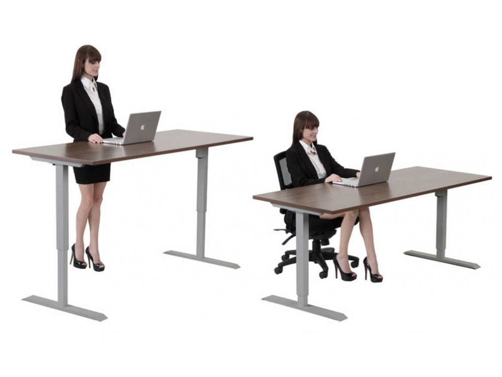 Standing Desk Adjule Height 30 X60 With Electrical Adjustment Between 27 47 High Five Colors