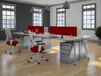 Modern Office - V-Leg Workstation Desk for Collaborative Office Environments
