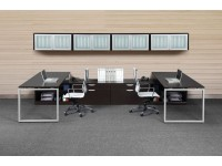 Modern Office - Loop Leg Desk with Various Storage Options