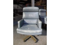 Fortress Brand Executive Leather Collector's Chair, Set of 12