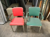 Used Collectible General Fireproofing GoodForm Aluminum Chairs