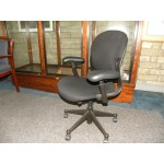 Used Herman Miller Equa Series 2 Mid Back Task Chair, Black on Black