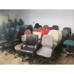 $35 Clearance Used Task Chair Section with Various Colors, Sizes, and Brands
