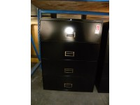 "4 Drawer 36"" Lateral File by Harpers, Black"