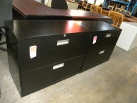 "2 Drawer 36"" Lateral File by Hon, Black"