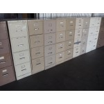 $65 Clearance Used 4 Drawer Vertical Files, Various Colors and Styles
