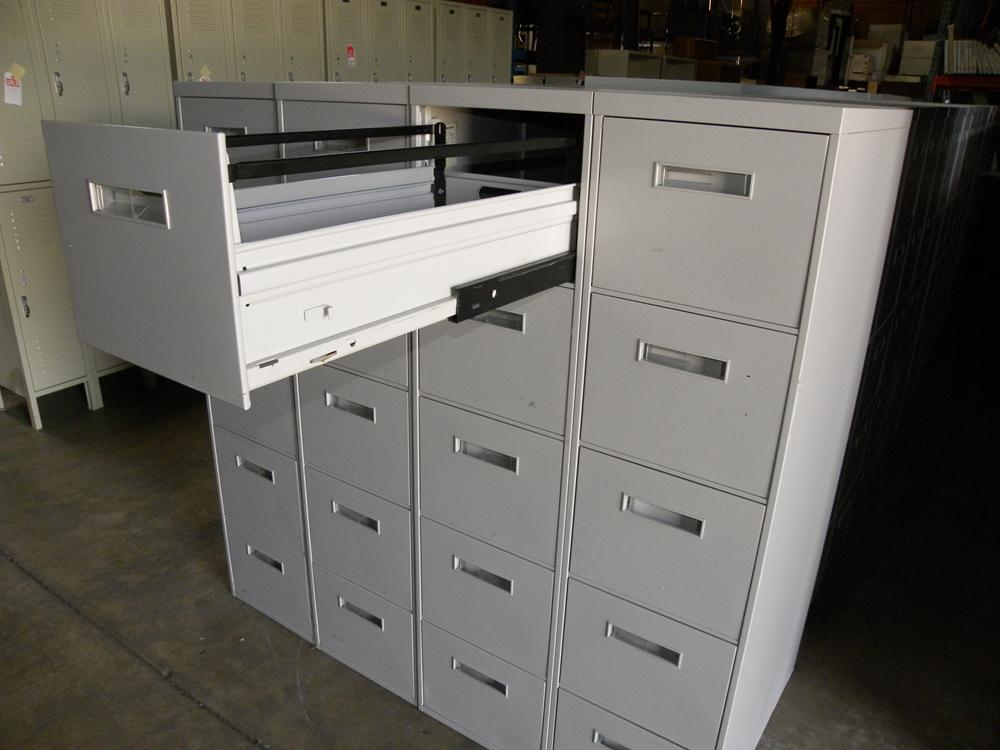 Used 800 Series 5 Drawer Letter Size Vertical File Cabinet By Steelcase,  White