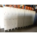 Used Storage Lockers, 3 per Row 2 per Column (Set of 6) - 1 Available