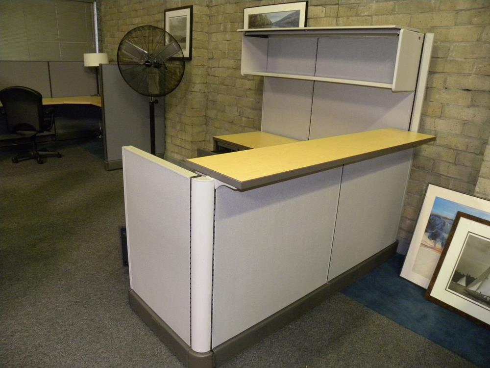 Used Reception Panel System Workstation By Herman Miller