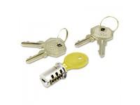 Key-Alike Lock Core Set, Brushed Chrome, New