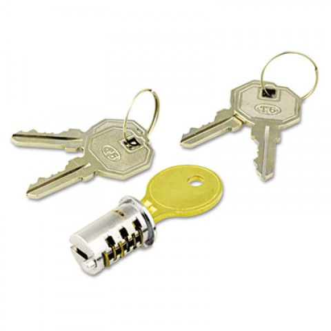 Key-Alike Lock Core Set, Brushed Chrome, New